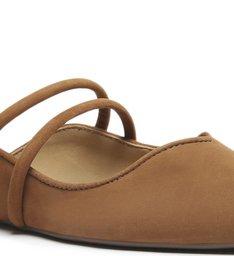 Sapato Mule Bico Fino Camurça Marrom
