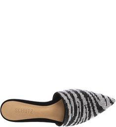 Flat Mule Zebra Print Glam