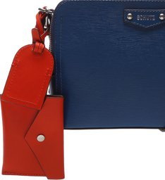 Crossbody Wallet Charm Laura Blue