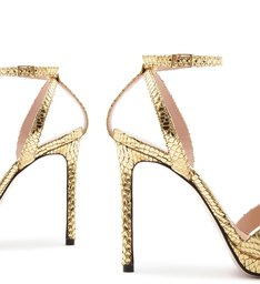 Sandália Salto Snake Gold