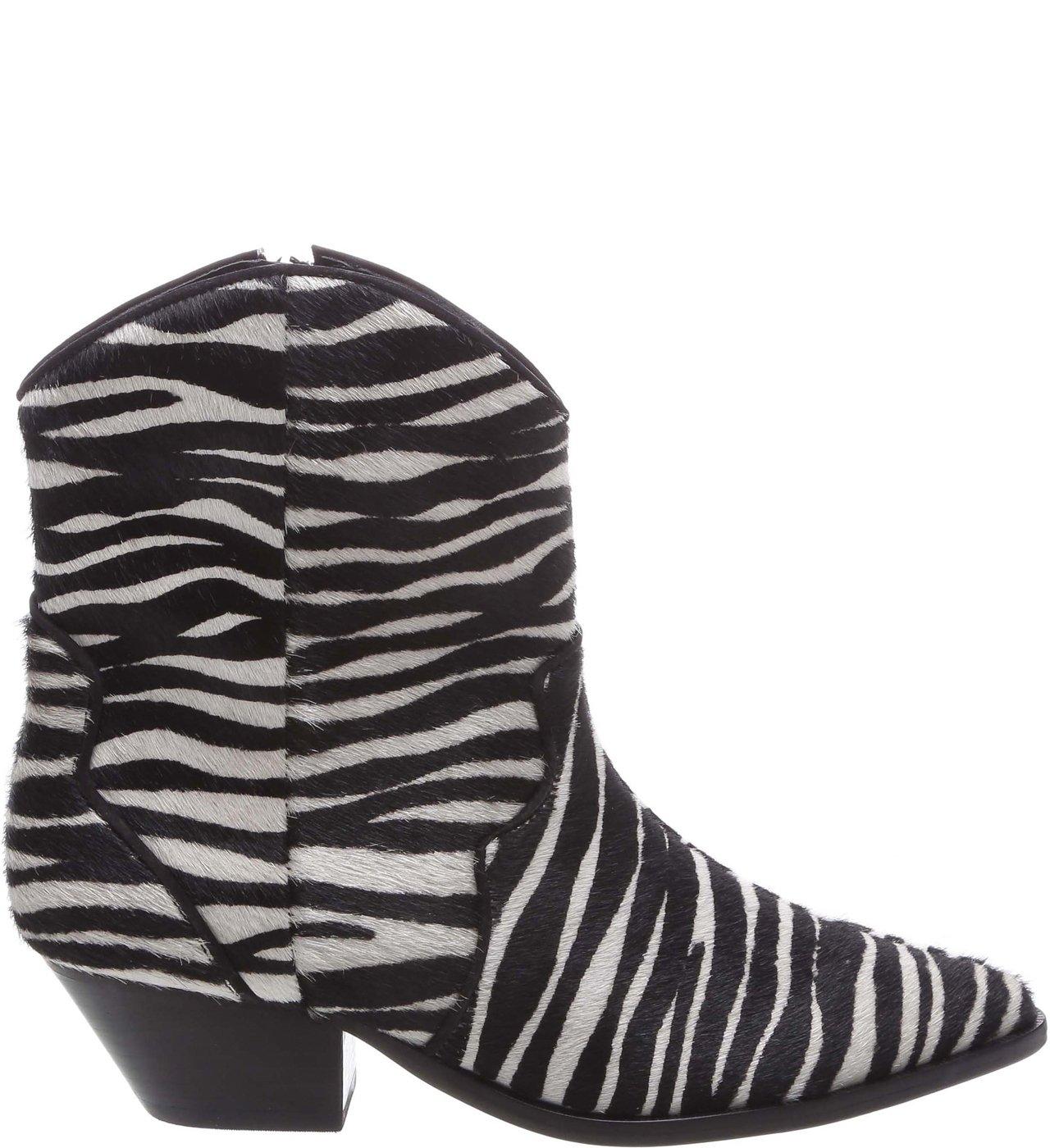 Cowboy Boot Zebra Print | Schutz