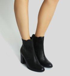 Classic Boot Salto Grosso Elástico Black