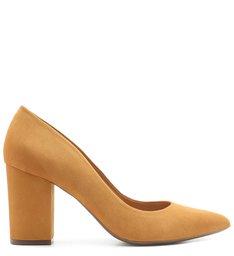 Scarpin Block Heel Nobuck Siena
