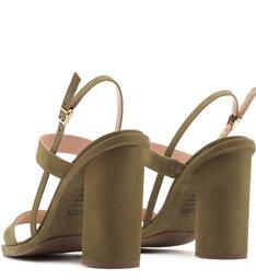 Sandália Salto Grosso Straps Green