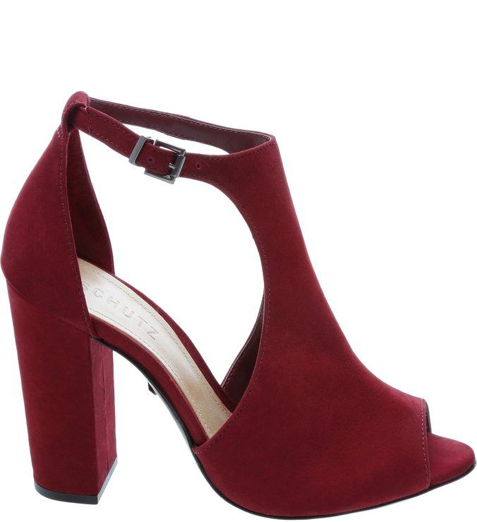 Sandália Block Heel Red
