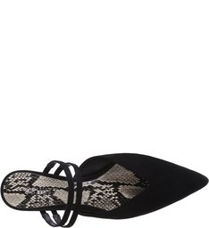 Mule Micro Heel Straps Black