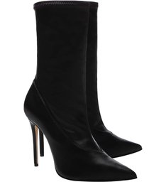 Sock Boot Salto Verniz Black