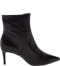 Bota Verniz Mid Heel Black