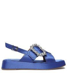 [Pre-Order] Sandália Flatform Cetim Azul
