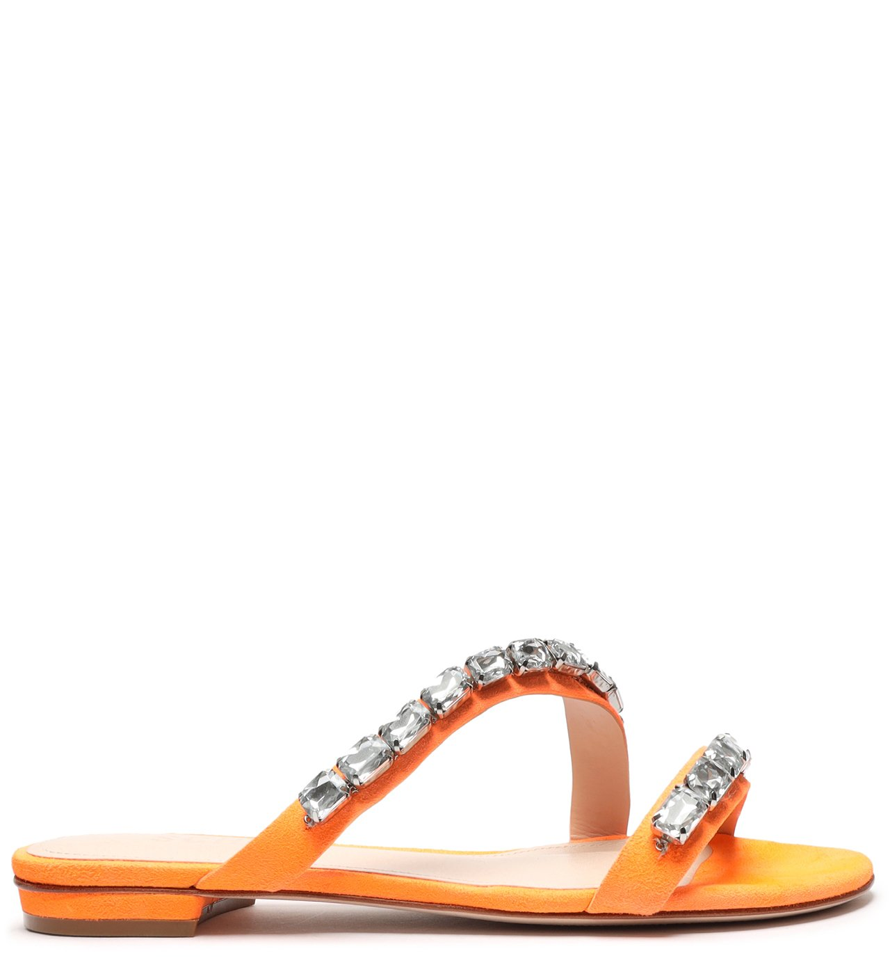 Rasteira Crystal Glam Neon Orange | Schutz