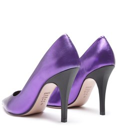 Scarpin Metallic Purple