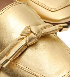 Loafer Knot Metallic Gold