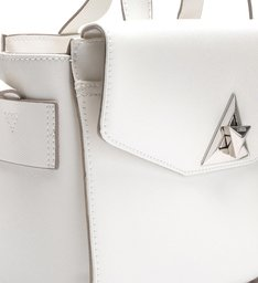 MINI CROSSBODY MINIMAL TRIANGLE WHITE