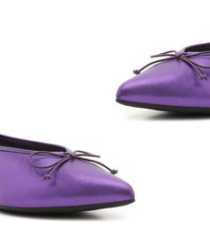 Sapatilha Pointy Metallic Purple