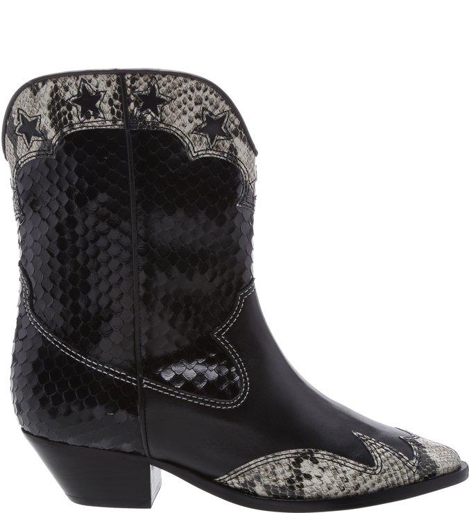 Bota Western Glam Python Black