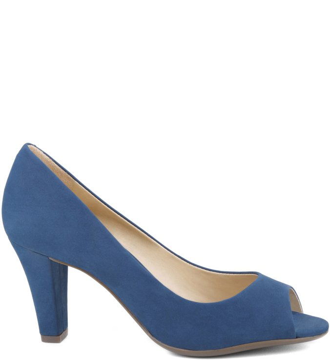 Peep Toe Steel Blue