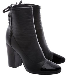Ankle Boots Strech Double Black
