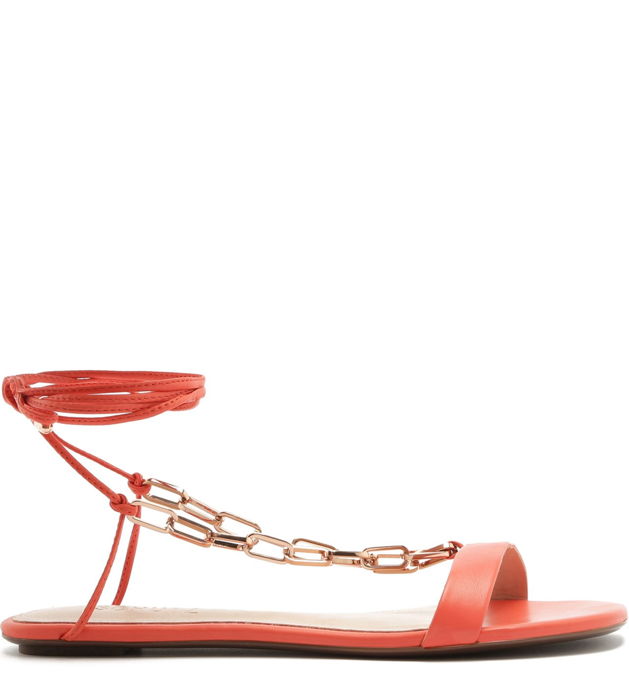 Flat Lace-Up Fun Chain Coral | Schutz