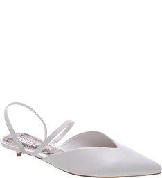 Mule Micro Heel Straps White