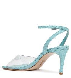 Sandália de Salto Vinil Azul