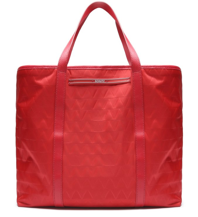 Shopping Bag Nylon Triangle Red