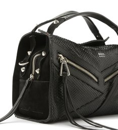 MINI HANDBAG SURI SNAKE BLACK