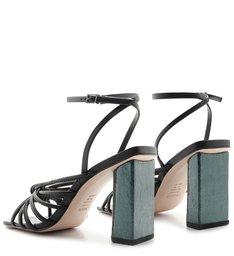 Sandália Salto Metallic Knot Black