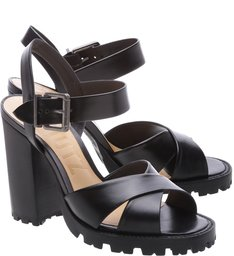 Sandália Block Heel Tratorada Black