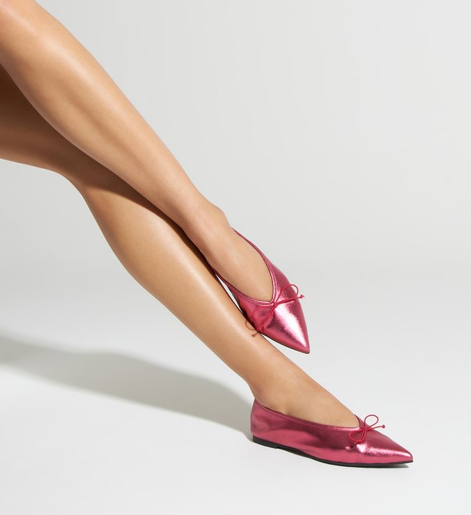 Sapatilha Pointy Metallic Red