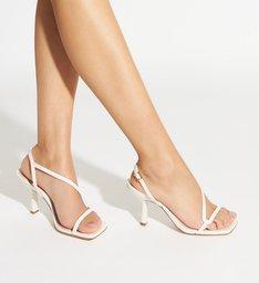 Sandália Curves Vintage Mid Heel White