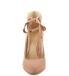 Scarpins Ballerina Salto Bloco Toasted
