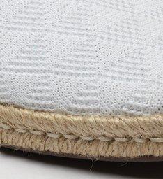 Flat Espadrille Triangle White