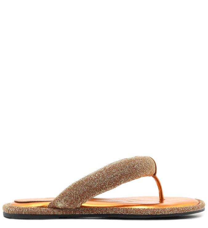 [On Demand] Homewear Flat Flip Flop Emi Disco Ouro