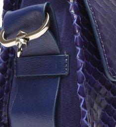 Bolsa Mini Tiracolo Mandy Snake Azul-marinho