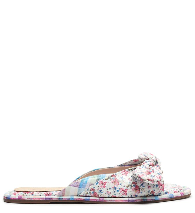 Slide Couro Live In Vichy Floral