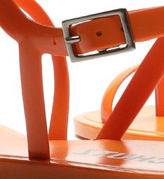 Rasteira Jelly Curves Orange