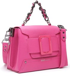 Satchel Buckle Bag Neon Pink