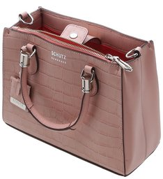 Mini Tote Lorena Croco Rose
