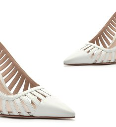 Scarpin Slingback Cut-Out White