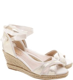 Espadrille Lace Up Pearl