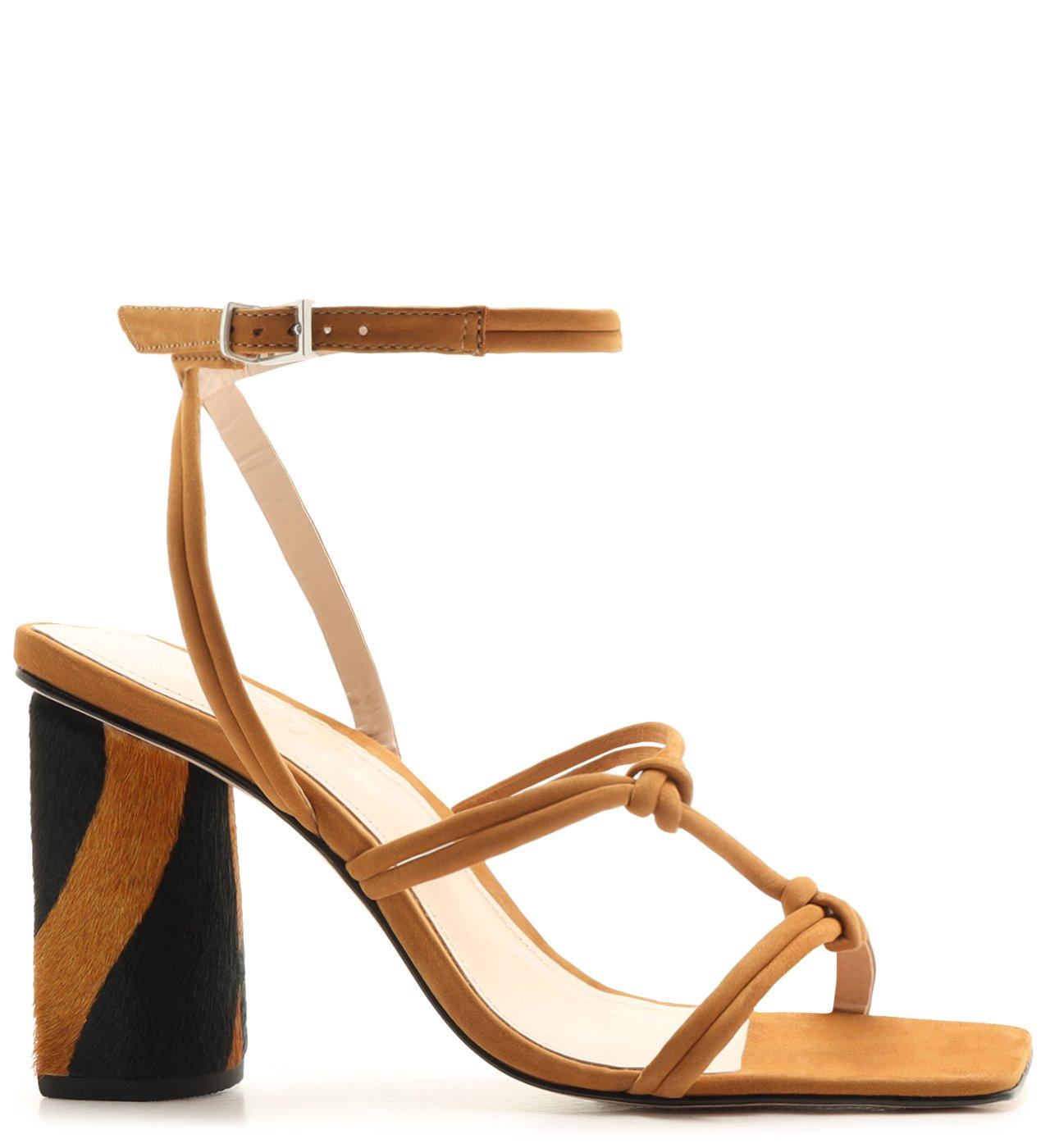 Sandália Strings Zebra Heel Caramel | Schutz