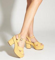 Sandália Meia Pata Nobuck Yellow