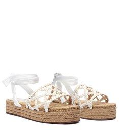 Sandália Flatform Geometric Natural White