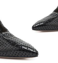 Scarpin Texture Verniz Black