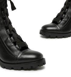 Combat Boot Lace Up Black