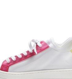 Tênis S Light Vinil White Pink