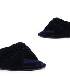 Homewear Flat Flip Flop Sarah Velvet Sailfish