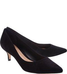 Scarpin Kitten Heel Nobuck Black