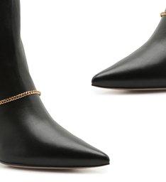 Bota Mid Heel Glam Black