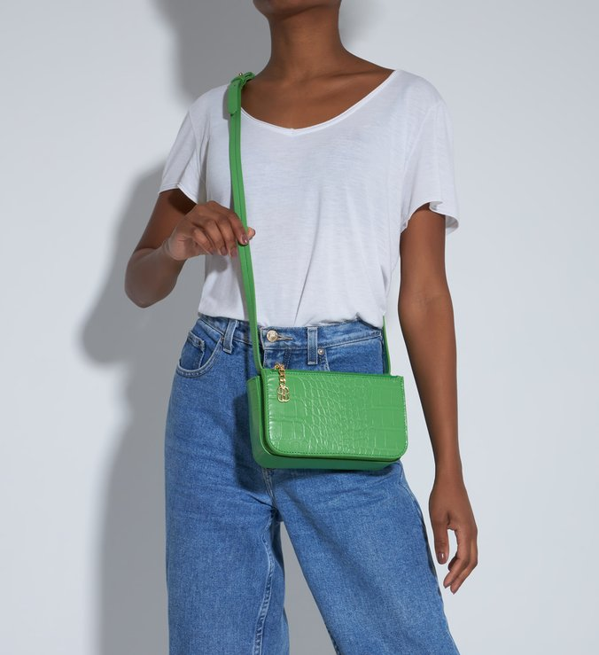 Crossbody Croco Green